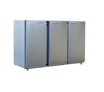 ARRIERE-BARS 3 LARGES PORTES | INOX CLASSIC